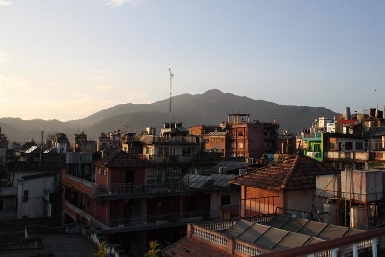 Вид с одной из крыш Катманду