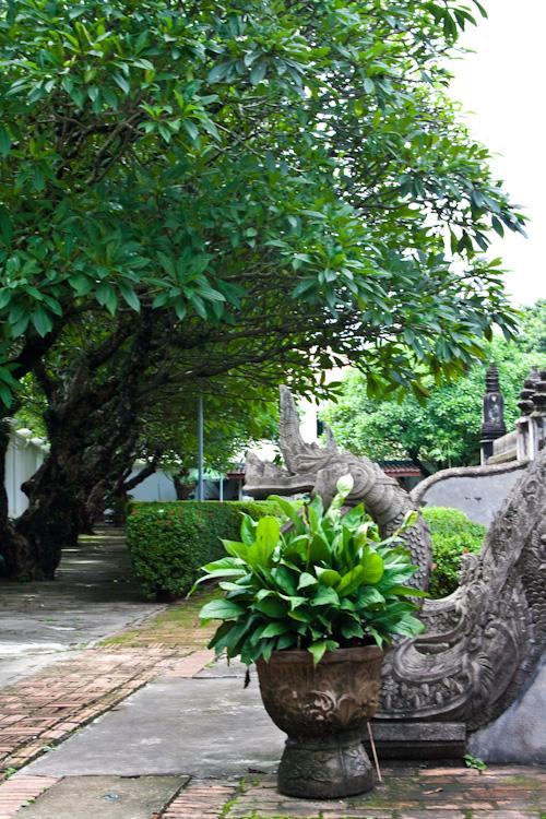 Рядом с лестницей в Хо Пха Кео