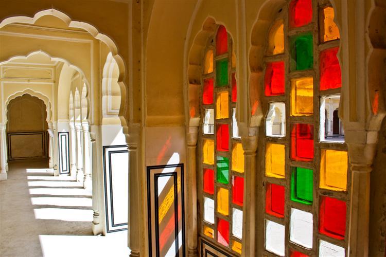Окна во дворце ветров в Джайпуре