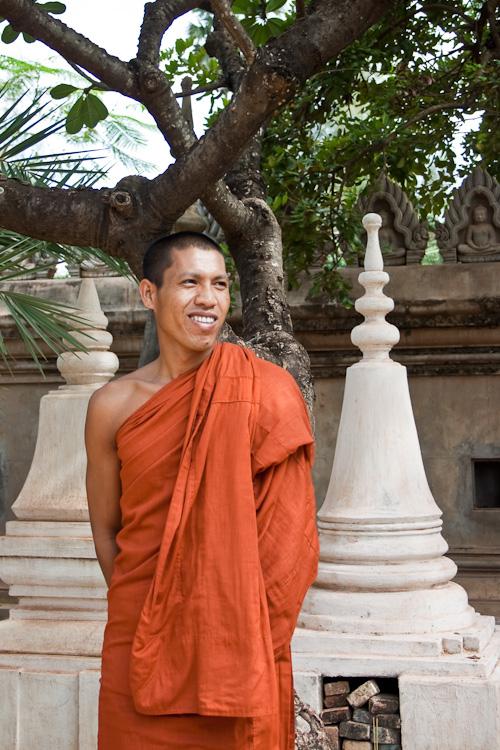 Монах из Ват Бо, Сием Рип, Камбоджа